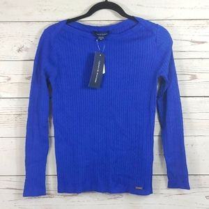 Tommy Hilfiger Blue Fitted Sweater